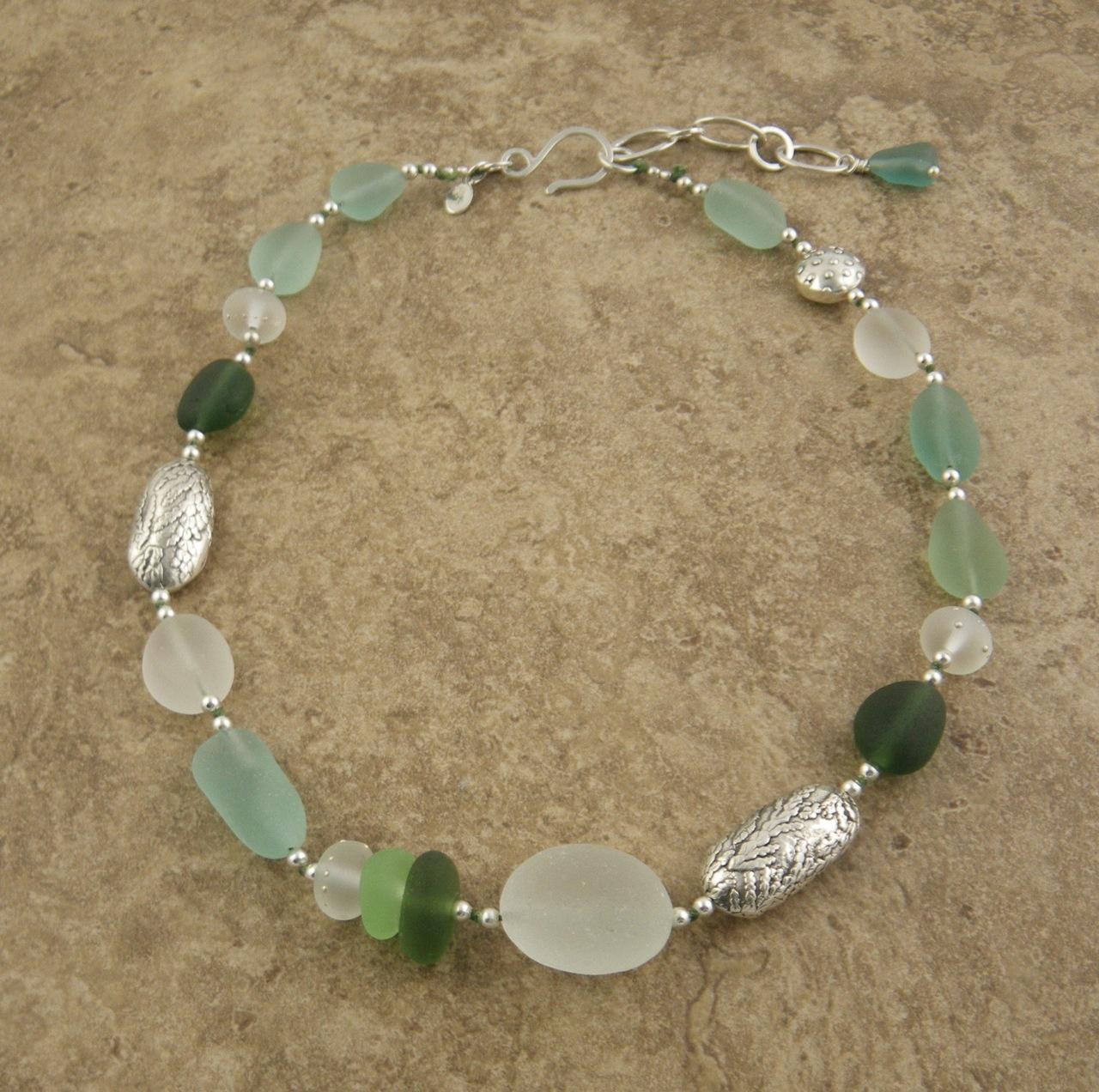 Sea glass necklace barbara s fernald jewelry cedar solutioingenieria Images
