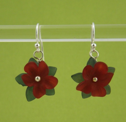 Lucite flowers, sterling silver wires