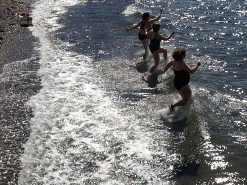 St. Patrick's Day swim. Water temp 37º